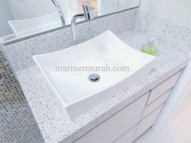 Meja Wastafel Granit Starwhite